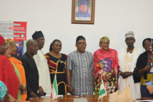 Group picture with National Chariman of PDP
