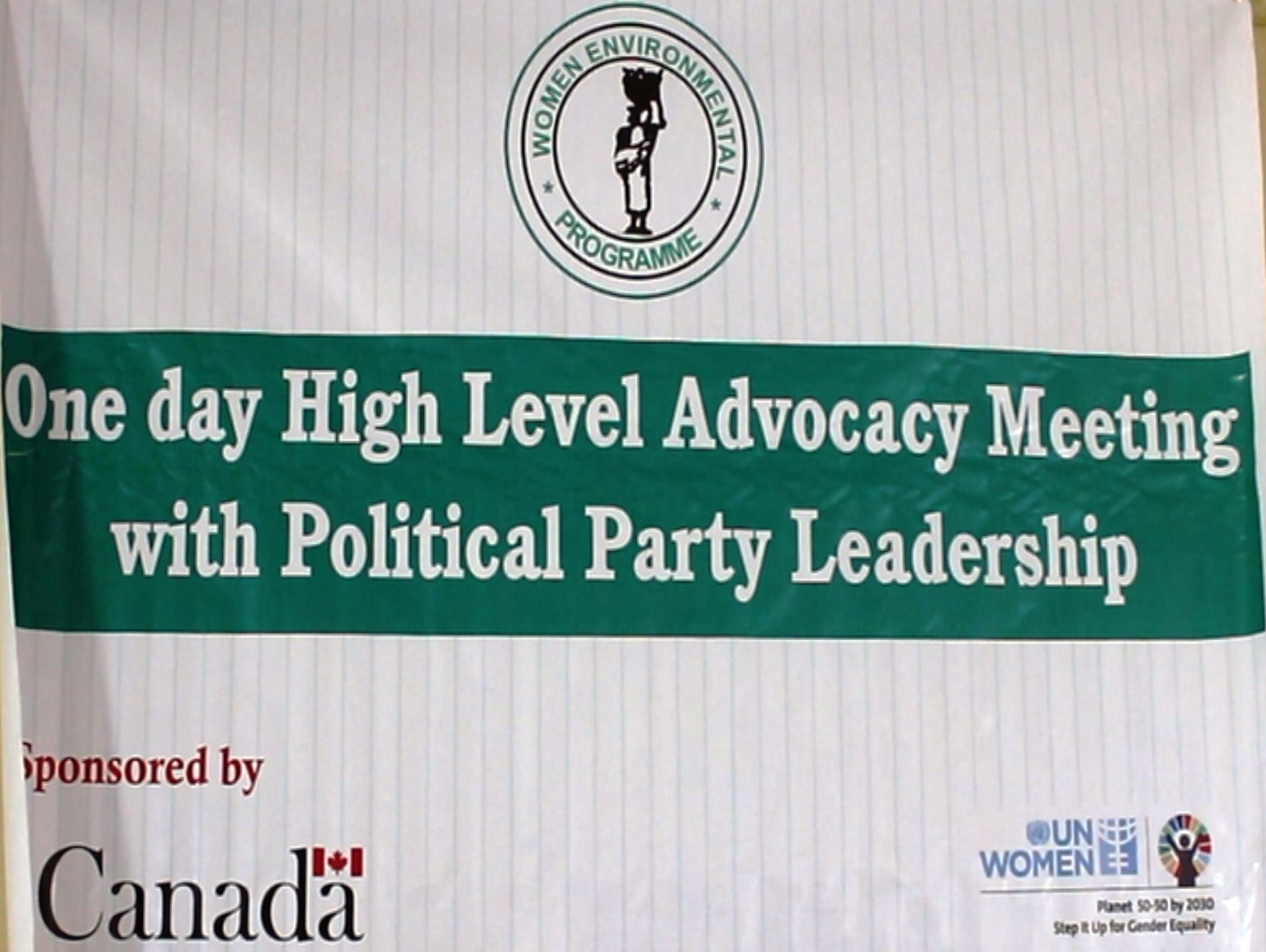 WEP ROUNDS UP SERIES OF HIGH LEVEL ADVOCACY MEETINGS WITH LEADERSHIP OF SELECTED POLITICAL PARTY IN NIGERIA