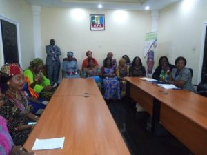 Cross section of the women meeting with the National Woman leader of APC