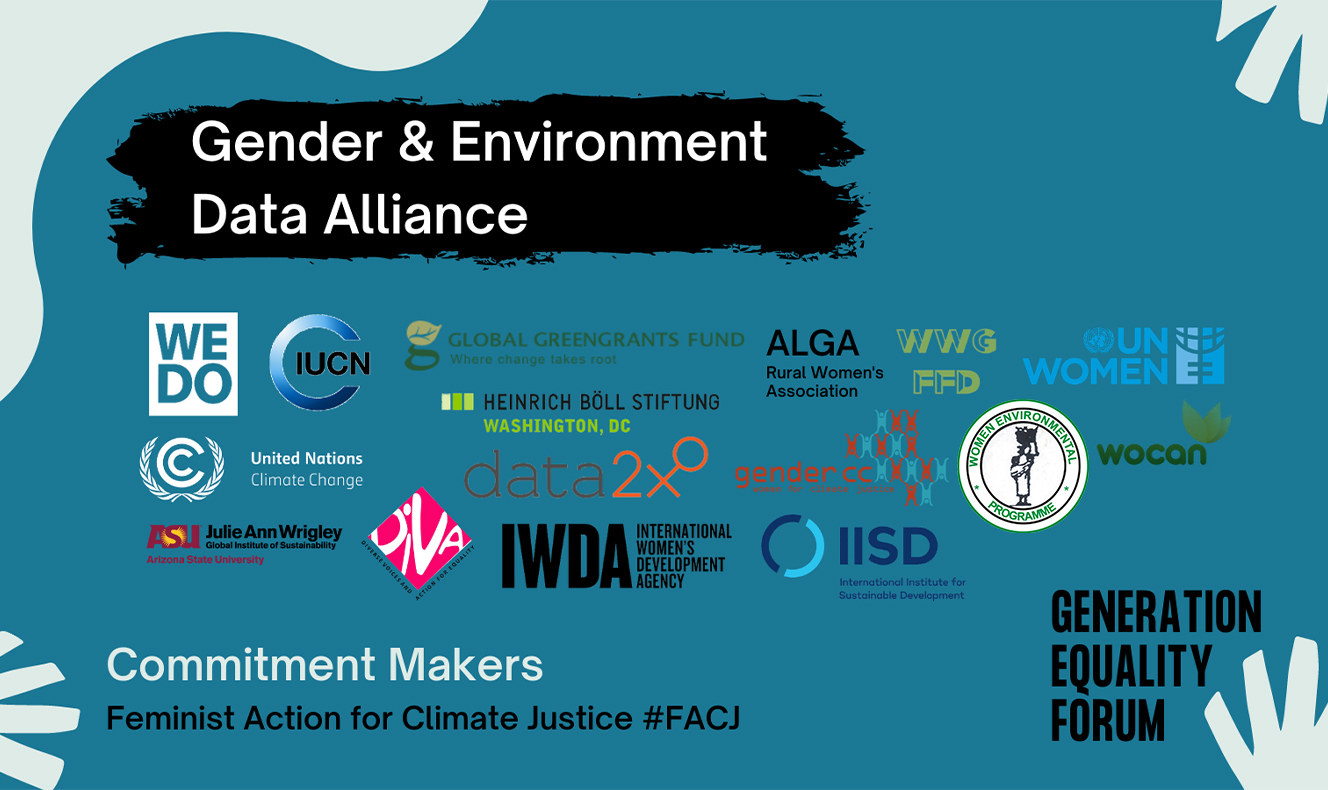 GENDER AND ENVIRONMENT DATA ALLIANCE (GEDA) LAUNCHED AT #GENERATIONEQUALITY